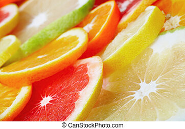 vruchten, citrus, achtergrond
