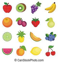 vruchten, punten, polka