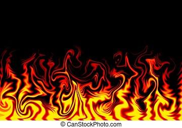 vuur, illustratie
