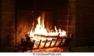 vuur, openhaard, steen, oud, brandwonden