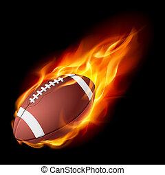 vuur, realistisch, amerikaan voetbal
