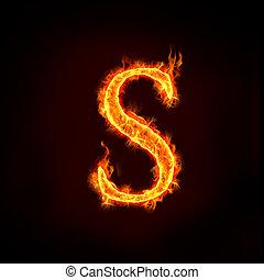 vuur, s, alfabet