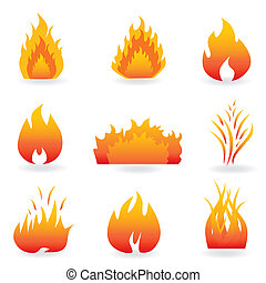 vuur, symbolen, vlam