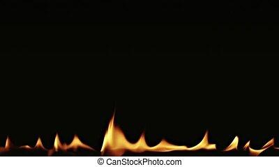 vuur, zwarte achtergrond, vlammen, dancing