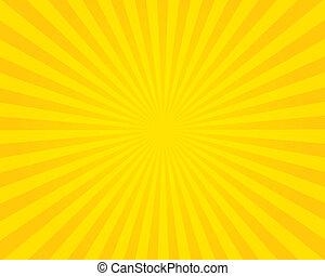 vuurpijl, illustration., gele, achtergrond.