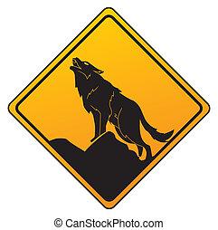 waarschuwend, wolf