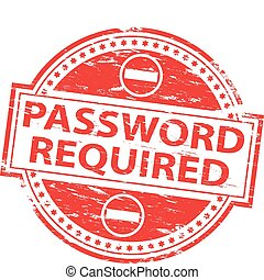 wachtwoord, postzegel, noodzakelijk
