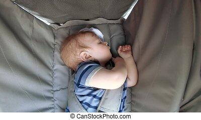 wandelaar, slapende, baby