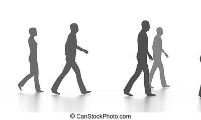 wandelende, mensenmassa