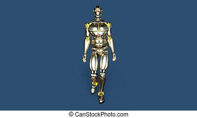 wandelende, robot