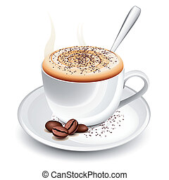 warme, cappuccino, kop