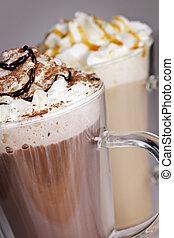 warme, dranken, koffie, chocolade