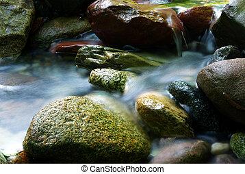 water, 2, zijdeachtig, stroom