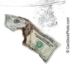 water, 20 dollar, bankbiljet