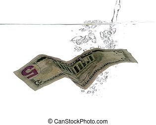 water, 5, bellen, dollar, bankbiljet