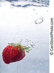 water, aardbei