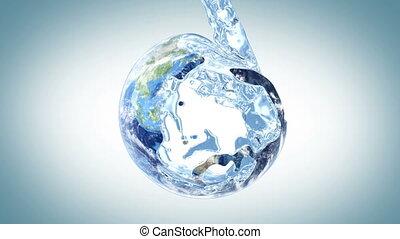 water, aarde, dempt
