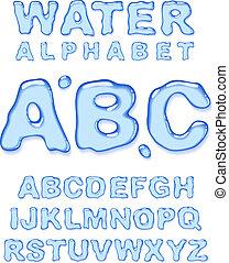 water, alphabet.
