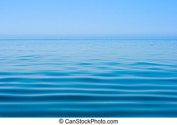 water, alsnog kalm, zee, oppervlakte