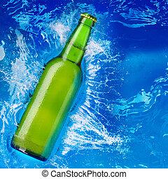 water, bier fles
