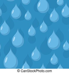 water, blauwe , regen, seamless, achtergrond, drops., vector, pattern.