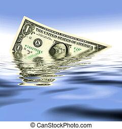 water, dollar, een