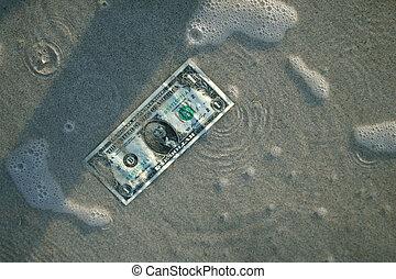 water, dollar