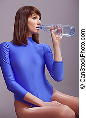 water, drinkende fles