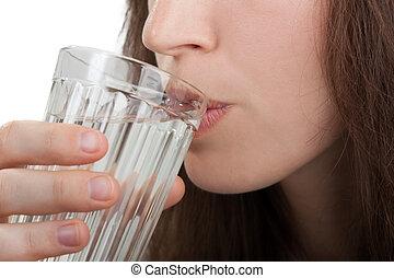 water, drinkt, vrouwen
