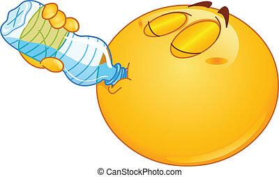 water, emoticon, drinkt
