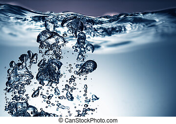 water, fris, bellen