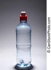 water, fris, koude, fles, plastic
