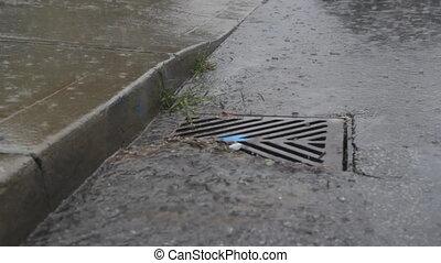 water, gaat, drain., dons