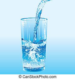 water, geregen, tumbler