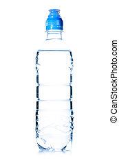 water, gespetter, fles