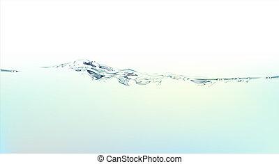 water, gespetter, vloeistof