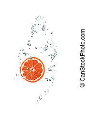 water, grapefruit, snede