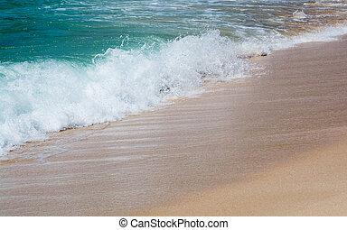 water, groene, seaspray