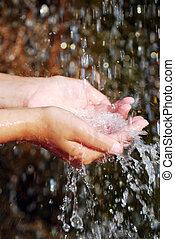 water, handen