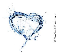 water, hart, gespetter