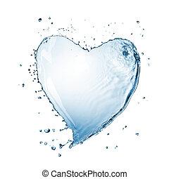 water, hart, witte , gespetter, vrijstaand