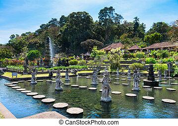 water, indonesie, paleis, bali, koninklijk, tirthagangga