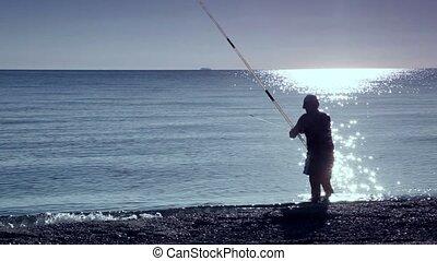 water, man, stalletjes, zee, visserij
