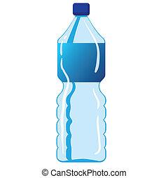 water, mineraal, fles