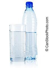 water, mineraal, fles, plastic
