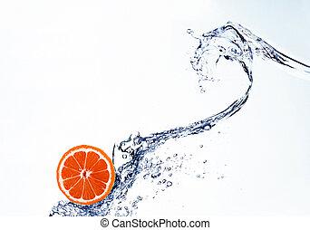 water nevel, grapefruit