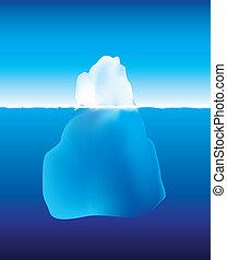 water, onder, ijsberg, boven