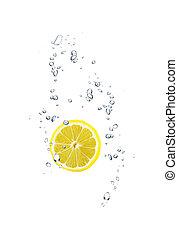 water, snede, citroen