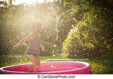water, spelend, geitje