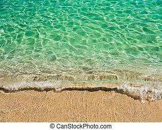 water, turkoois, sardinian, duidelijk, zee